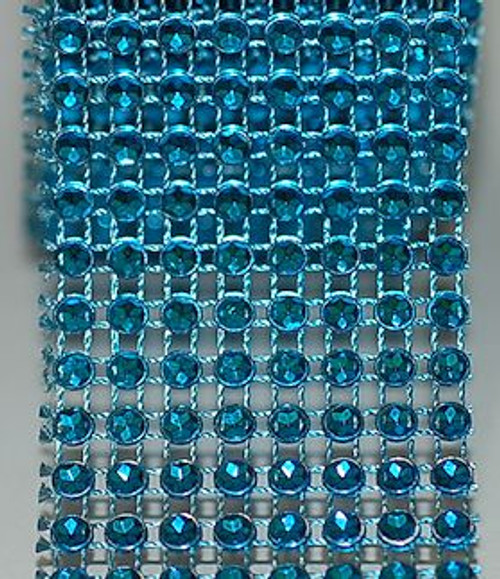 Turquoise Rhinestone Ribbon for Crafts and Supplies.