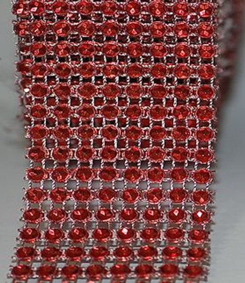 Red Rhinestone Ribbon for Crafts and Supplies