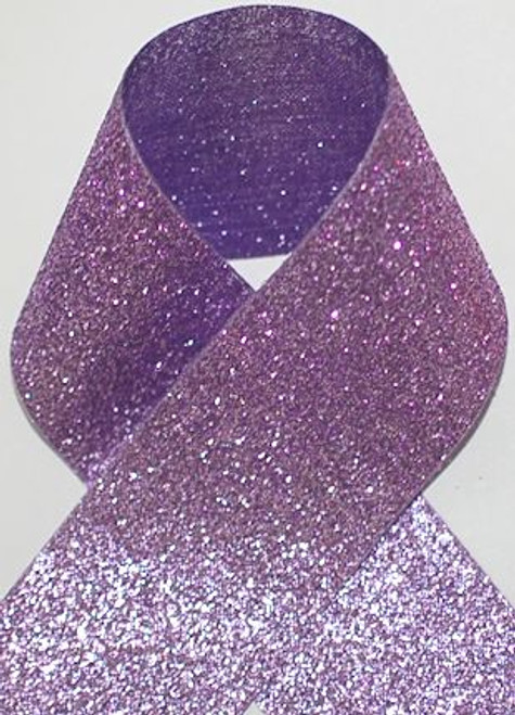 1.5 inch Glitter Purple Metallic Grosgrain Craft Ribbon for Cheer Bows Craft Supplies and Hair Bows.