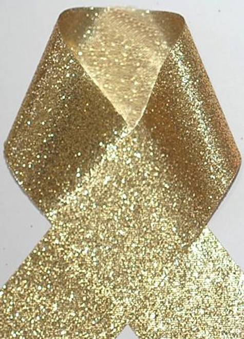 1.5 inch Glitter Gold Metallic Grosgrain Craft Ribbon for Cheer Bows Craft Supplies and Hair Bows.