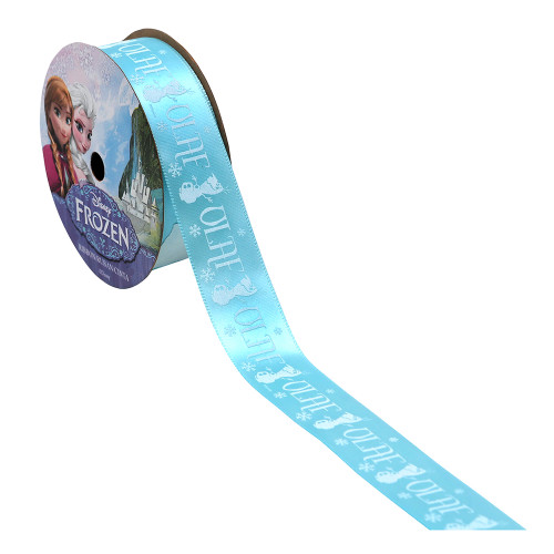 Frozen Olaf Silhouette Printed Ribbon