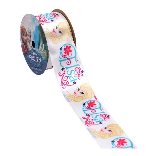 White- Elsa Printed Ribbon