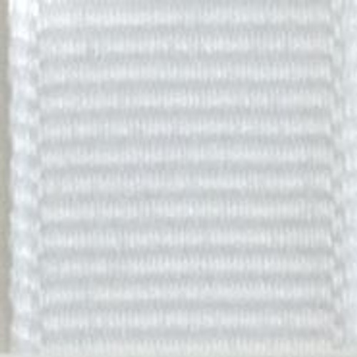 White Offray Grosgrain Ribbon