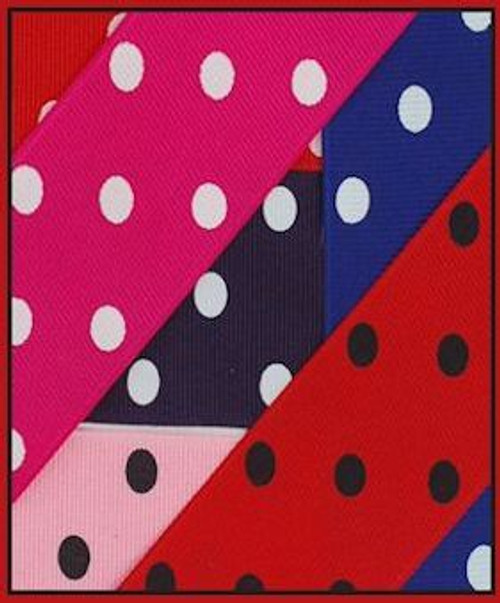 Polka Dots Grosgrain Ribbon