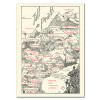 """Saturn Press All Occasion Card """"Tall Peaks"""" Cover shows famous mountains formations and lists their heights."""
