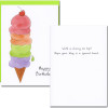 "Business birthday card - special treat Inside has the words ""With cherry on top! Hope your day is a special treat."""