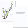 "Sympathy Card -Blooming Branch inside quote is ""Caring thoughts are with you now and in the days ahead"".  There is also space to a get well message from a business associate or medical professional."
