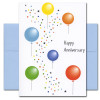 """Anniversary Balloons cover has multiple colored balloons and confetti and the words """"Happy Anniversary"""""""