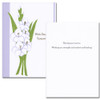 "Sympathy Card - Deepest cover has an illustration of gladiola and the words ""With Deepest Sympathy"" Sympathy card - Deepest inside has the words ""Sharing your sorrow.  Wishing you strength and comfort and healing"" and space to write a sympathy message from a medical professional, business associate or personal relationship."