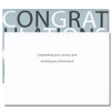 Inside of Celebrate Success Congratulations Card reads: Celebrating your success and wishing you all the best