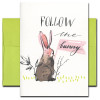 Easter Card: Follow the Bunny