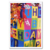 "Boxed Business Birthday Card - Shopping Bag cover-which is a photo of decorated shopping bag with the words ""Happy Birthday! """