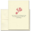 """Quotation Card """"Good Cards: Billings"""" Cover shows a red  vintage illustration of a hand holding cards with a quote by Josh Billings that reads: """"Life consists not in holding good cards but in playing those you hold well."""""""