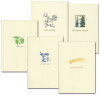 Boxed multi occasion cards with vintage illustrations for birthday, congratulations, get well, sympathy and thank you.