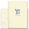 "Get Well Card- Old Fashioned illustration of a mortar and pestle with the words ""Get Well Soon"""