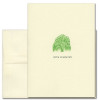 """Sympathy Card - Willow Tree has an illustration of a green willow tree above the words """"With Sympathy"""""""