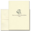 """Quotation Card """"Excellence: Ovid"""" Cover shows vintage drawing of a bird pulling a worm from the ground with a quote from Ovid reading: """"There is no excellence without difficulty."""""""