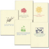 "Boxed Quotation Cards ""Seasons Quotations Assortment"" Vintage style illustrations paired with inspiring quotes by famous authors for different seasons"