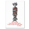 """Saturn Press Quotation Card """"Some Mornings: Phillips"""" Cover shows illustration with a frazzled looking women tied up with a quote by Emo Phillips """"Some mornings it just doesn't seem worth it to gnaw through the leather straps."""""""