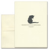 """Quotation Card """"Time Spent: Colette"""" Cover shows vintage illustration of black cat with a quote by Colette """"Time spent with cats is never wasted."""""""