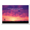 """Boxed Business Thomas Carlyle Quotation Birthday Card - See Farther. Cover has a  photo of windmill at sunset and Thomas Carlyle quote """"Go as far as you can see, when you get there you can see farther"""""""