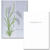 "Get Well Card - Take Care of Yourself cover has an abstract illustration of wild grasses on a gray background with the words "" Take Care of Yourself"" et Well Card- Take Care of Yourself inside has the words ""and get better soon"" and space to write a get well message from a medical professional, business associate or personal relationship"