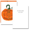 Halloween Luck Card inside - Hope your day brings lots of treats
