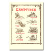 Saturn Press All Occasion Cards, Campfires  Cover shows different types of campfires for cooking and warming