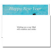 Snowbirds New Year Card inside reads, Wishing you a year filled with sunshine and smiles