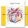 The Very Best Birthday Card features a bright gift box and the words Happy Birthday