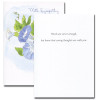 Inside of Morning Glory Note Card reads: Words are never enough, but know that caring thoughts are with you