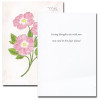 Sweet Briar Sympathy Card inside reads: Caring thoughts are with you now and in the days ahead