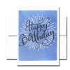 Boxed Birthday Card - Spectacular Day has a hand-drawn and lettered design and the words Happy Birthday