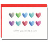 "Little Hearts has an illustration of watercolor hearts in two lines and the words ""Happy Valentine's Day"""