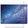 """Einstein Quotation Card has a photo of the Milky Way galaxy and the Albert Einstein quote, """"Logic will get you from A to B. Imagination will take you everywhere. """""""
