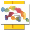 Thinking of you Card cover has an abstract watercolor design and the words: Sometimes there are no words