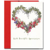 Heartfelt Appreciation Valentine features a floral and greenery wreath