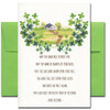 Saint Patrick's Day card cover shows a cottage and a traditional Irish blessing