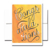 Bold Script Congratulations card features the word Congratulations in white and black script against a gold watercolor background