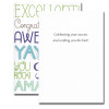 Congratulations Card Excellent inside reads: Celebrating your success and wishing you the best!