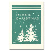 Little Firs letterpress holiday card pictures two little fir trees and the greeting Merrie Christmas