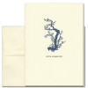 """Sympathy Card Old Blossoms on the cover has a vintage illustration of an old branch with blossoms above the words """"With Sympathy"""""""