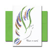 """Peace Dove Holiday Card cover shows a chalk sketch of a dove with and the words, """"Peace on Earth"""""""