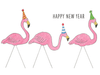 New Year: Flamingos
