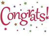Congratulations: Starry Congrats