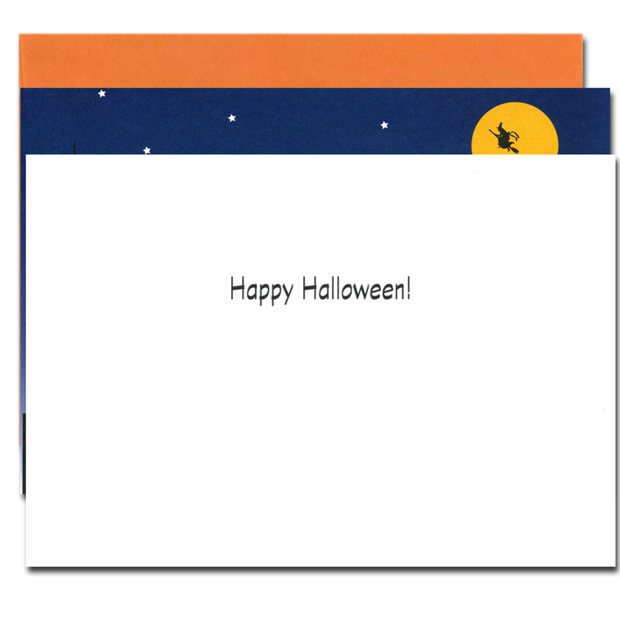 Inside of City Witch Halloween card with wor