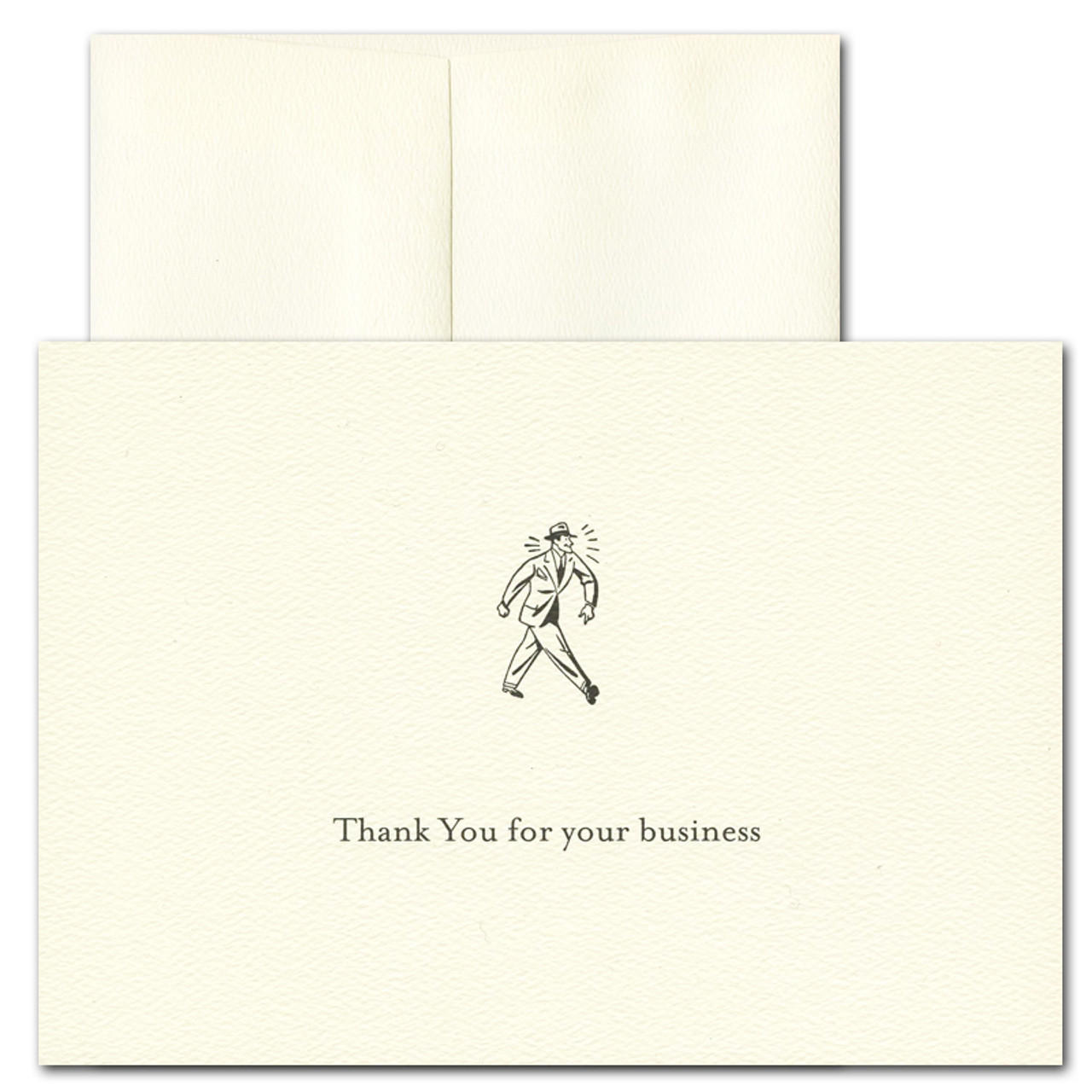Business Thank You Card - Retro. Vintage advertising illustration and the words: Thank you for you business