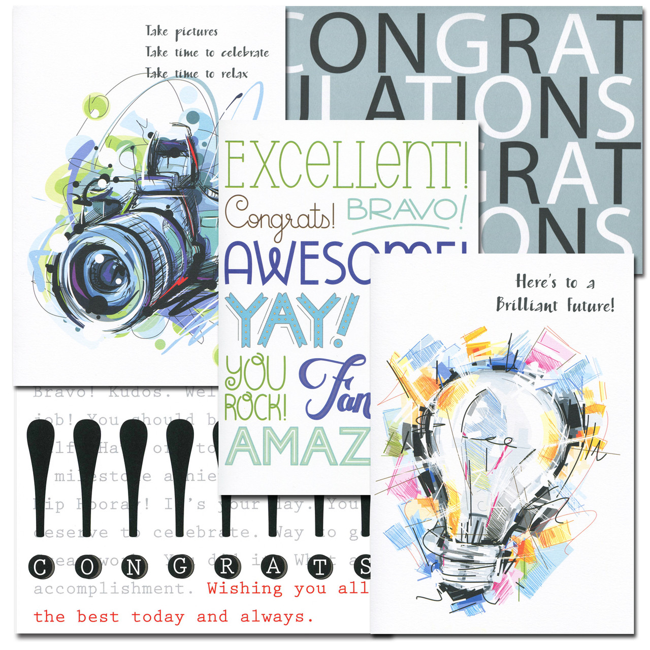 Congratulations Card Assortment: two each of five different styles