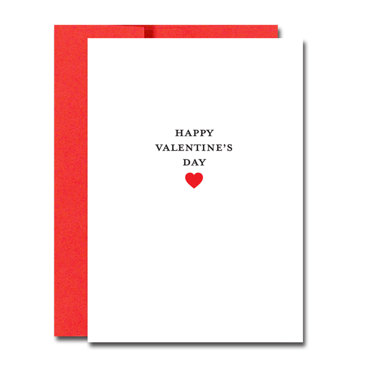 "Business Basics Valentine Note Card on the cover has the words ""Happy Valentine's Day"" above a red heart illustration"