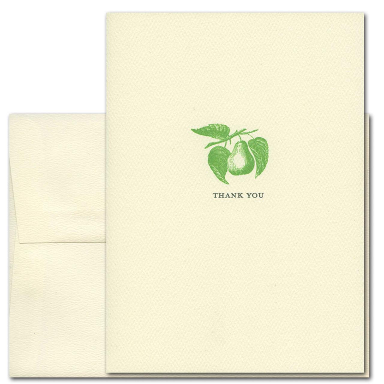 Pear Thank You Card